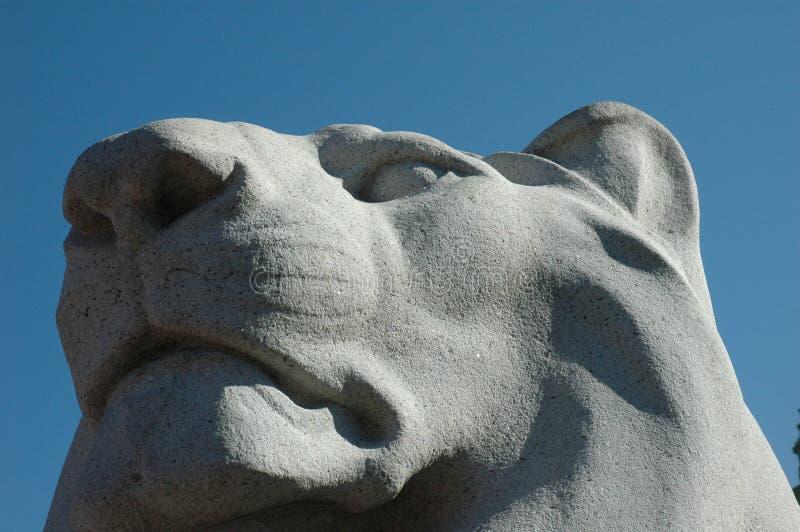 详细资料狮子雕象 免版税图库摄影