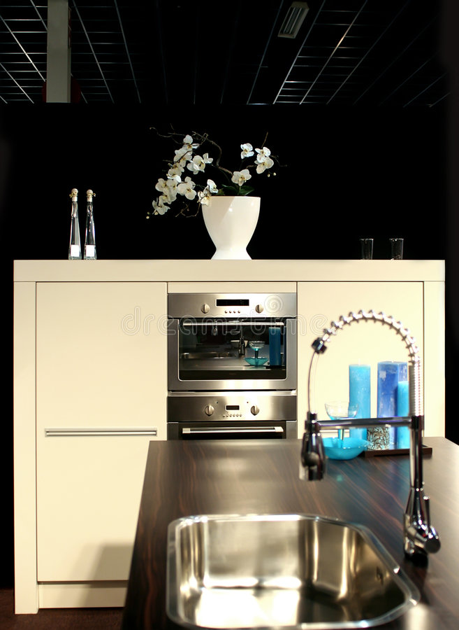 详细资料现代fo的厨房 免版税库存照片