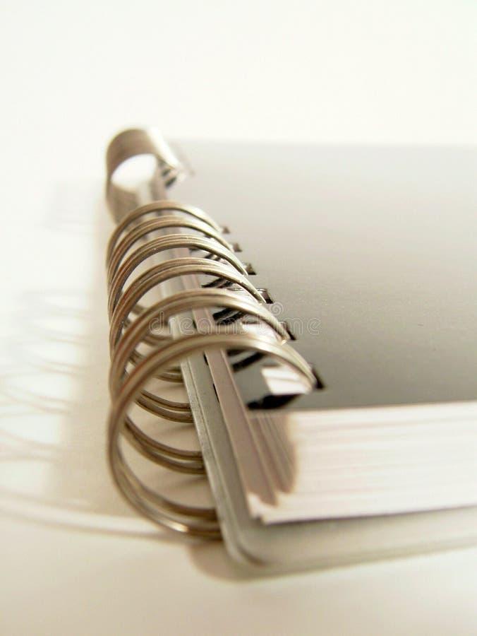 详细资料笔记本螺旋 免版税图库摄影
