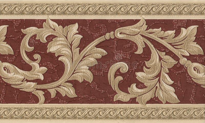 详细资料纺织品葡萄酒墙纸 库存照片