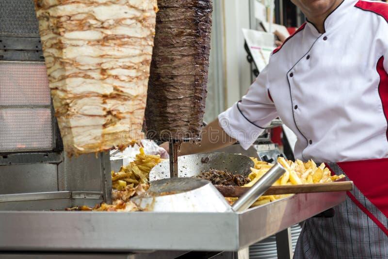 详细资料doner donner kebab土耳其 免版税图库摄影