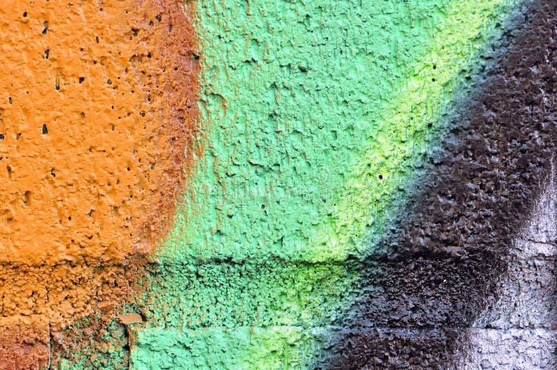详细资料grafiti绿色桔子墙壁 免版税库存图片