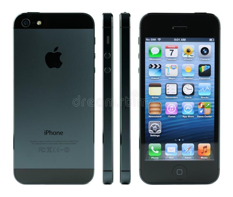 详细资料iPhone 5 库存照片