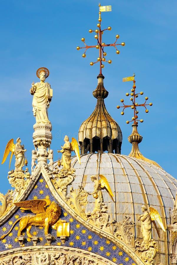 详述共和国总督意大利华丽宫殿s威尼& 免版税图库摄影