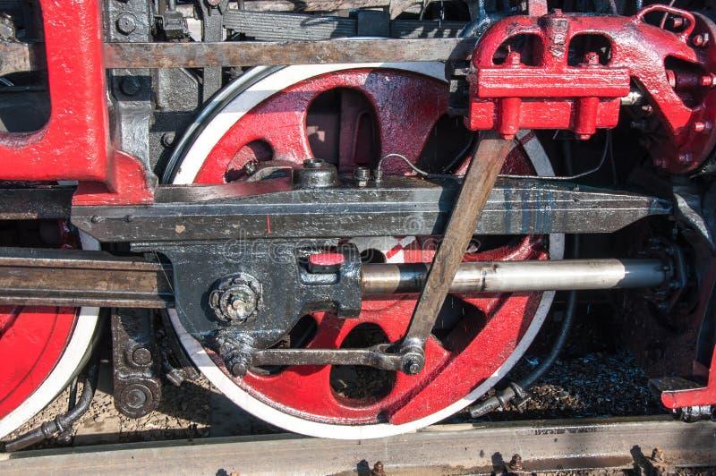 详述减速火箭的蒸汽机车 免版税库存图片