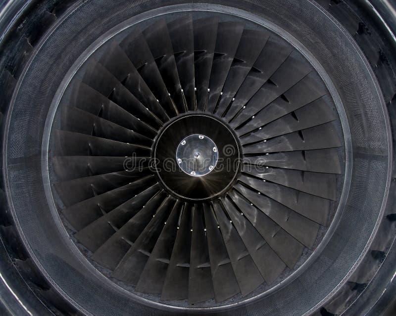 详述引擎喷气机 库存照片