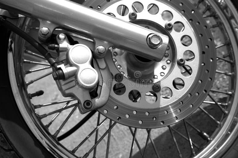 详述摩托车轮子 库存照片