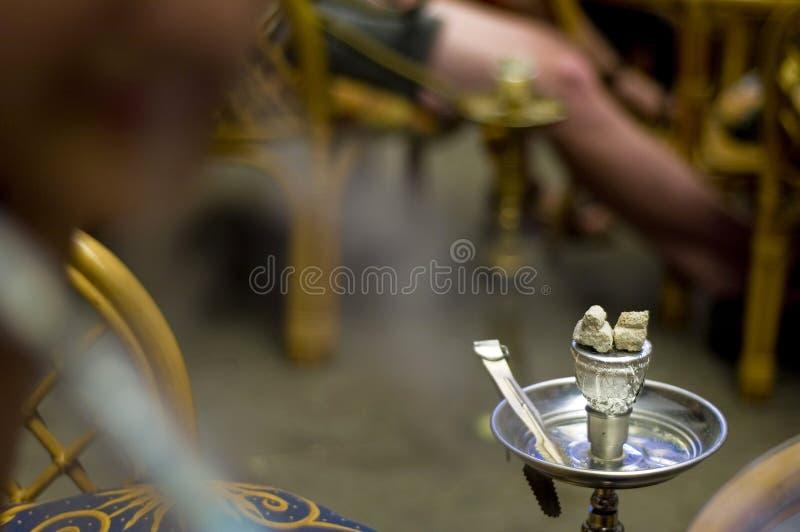 详述水烟筒nargileh 免版税库存照片