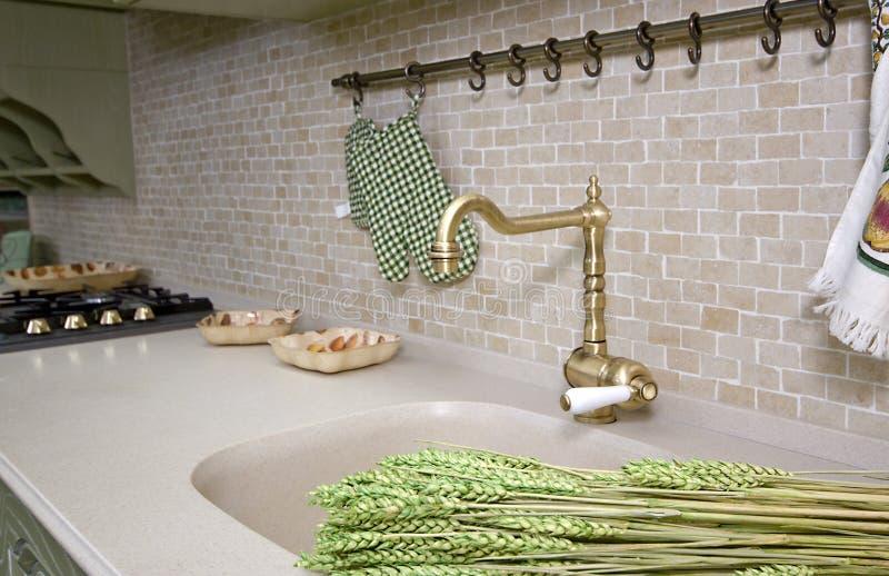 详述现代的厨房 库存图片