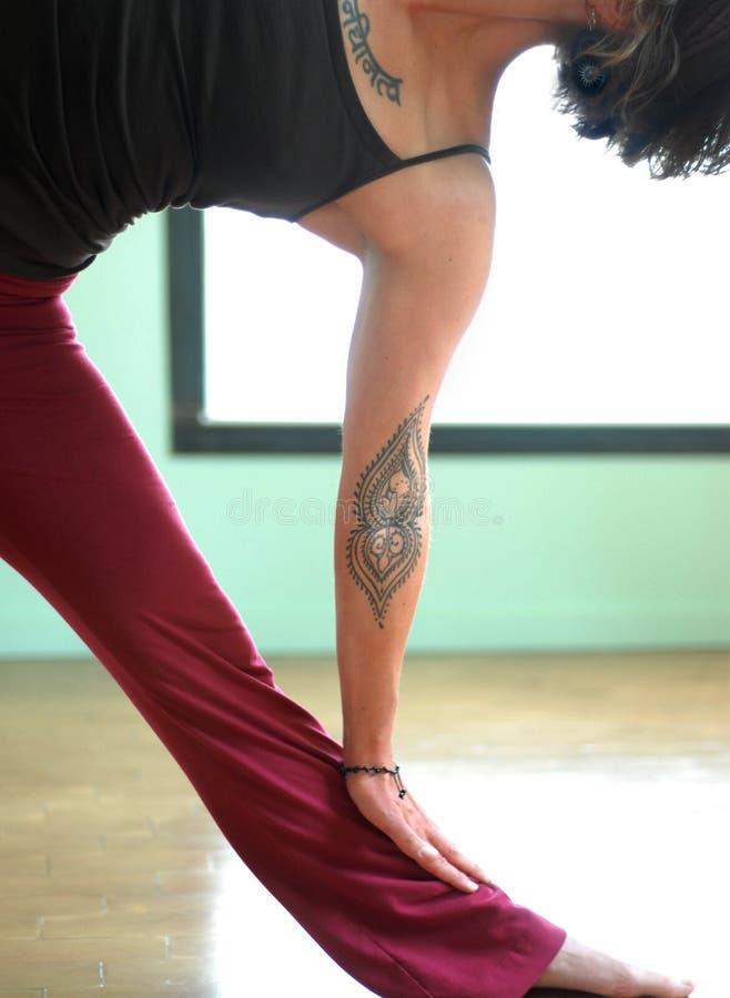 详述瑜伽 免版税图库摄影