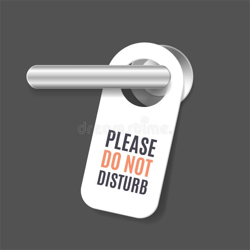 详述的现实3d不干扰标志和门把手 向量 向量例证