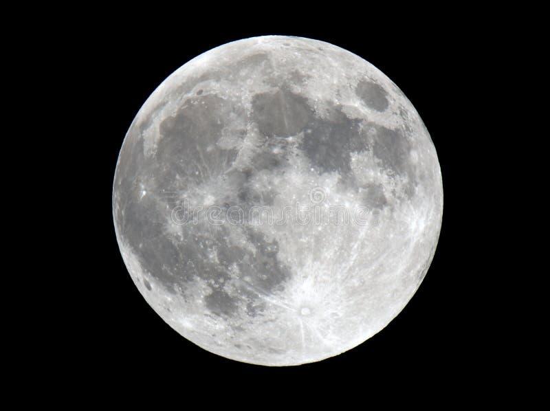 详述的非常月球照片表面 库存图片