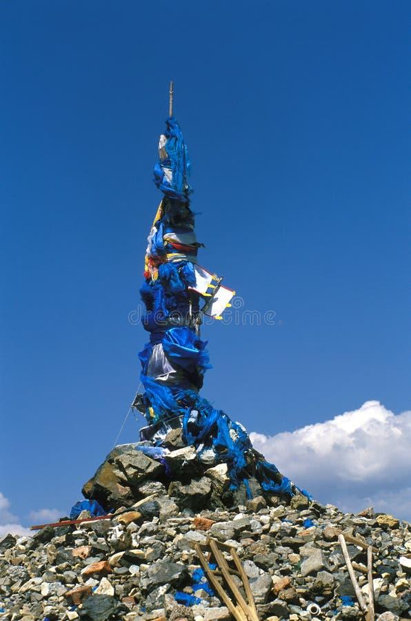详述蒙古oboo 免版税库存照片