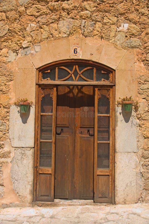 详述门道入口西班牙语 免版税库存图片
