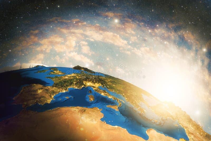 详细的五颜六色的地球 向量例证