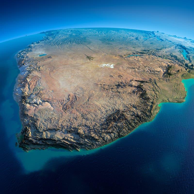 详细的地球。南非 库存例证