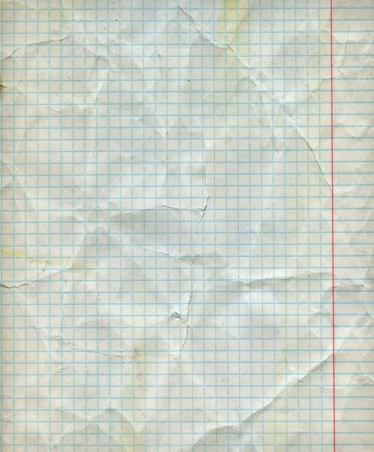 详细的空白的算术纸板料 免版税库存图片