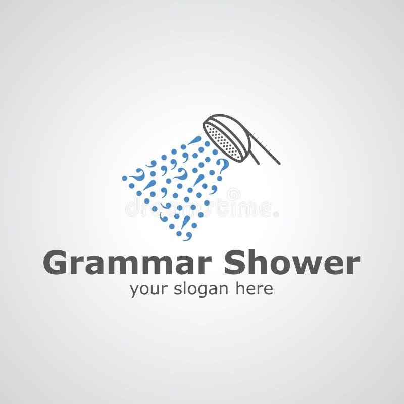 语法阵雨传染媒介商标设计 向量例证