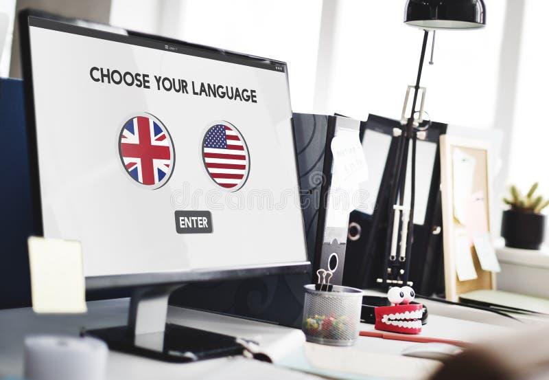 语言词典英国美国概念 库存图片