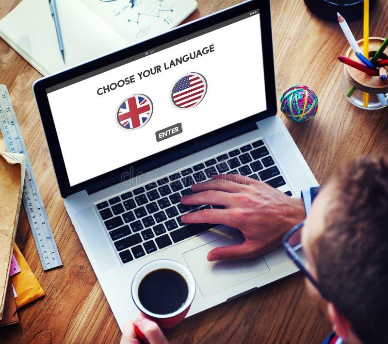 语言词典英国美国概念 免版税图库摄影