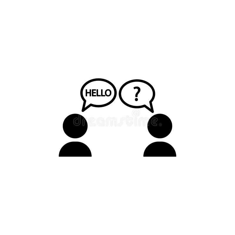 语言障隘象 被克服的挑战例证的元素 优质质量图形设计象 标志和标志coll 皇族释放例证