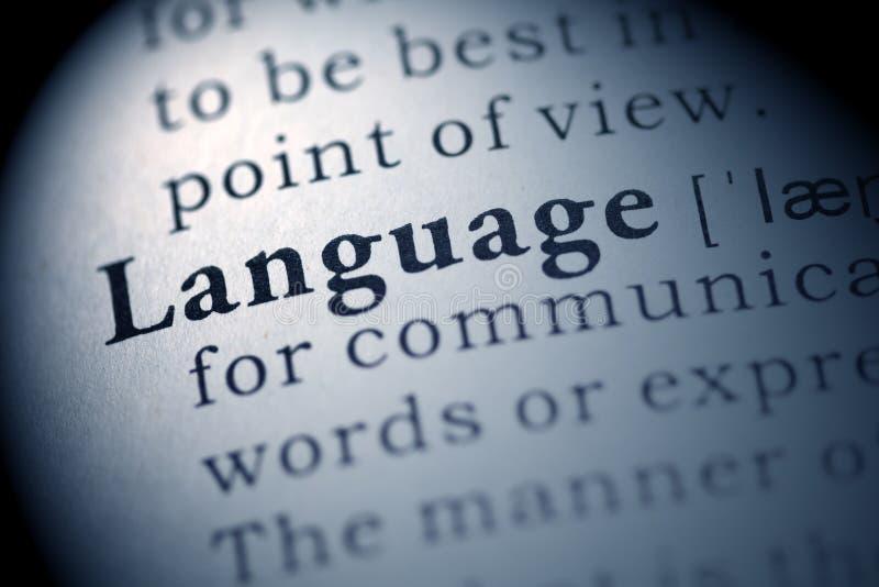 语言 库存照片
