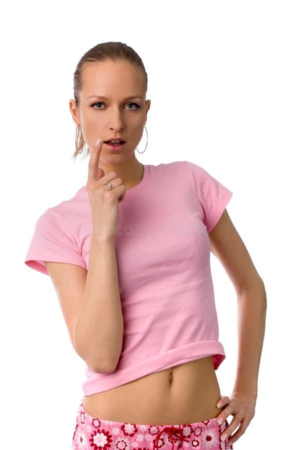 诱人的妇女 免版税库存图片