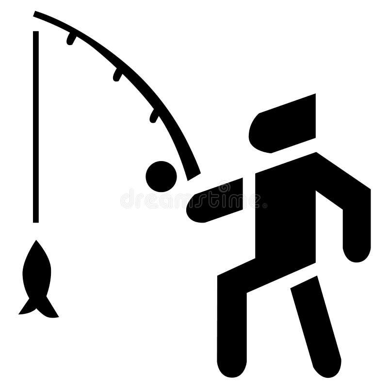 渔夫活动背景 诱饵、浮子和鱼在传染媒介象 皇族释放例证