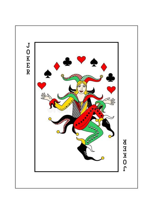说笑话者卡片妇女 库存例证