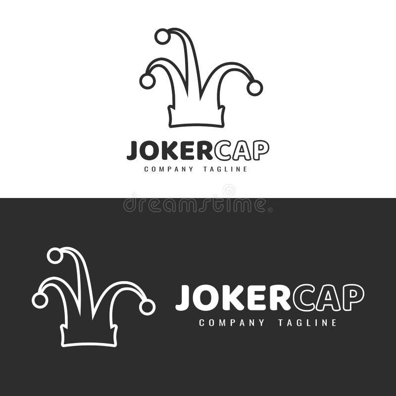 说笑话者帽子商标设计 皇族释放例证