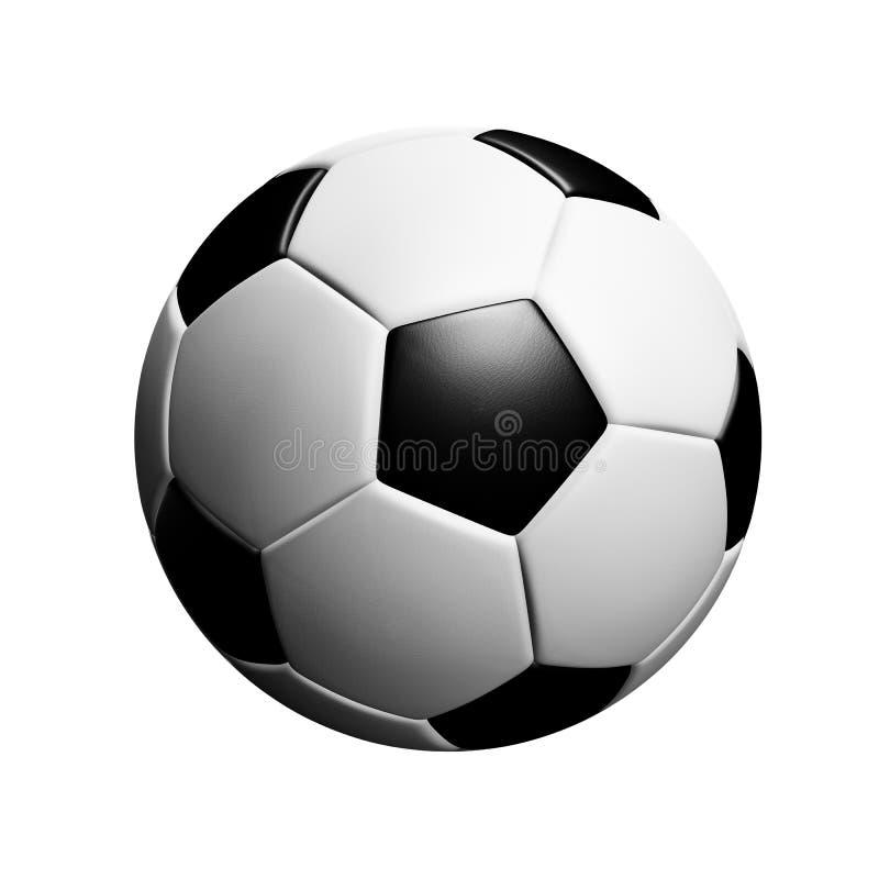 说谎在草甸片断的经典soccerball  皇族释放例证