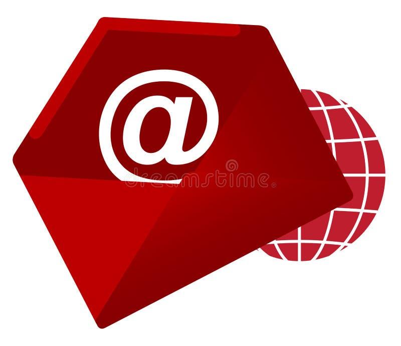 请与邮件联系给我们打电话 库存例证