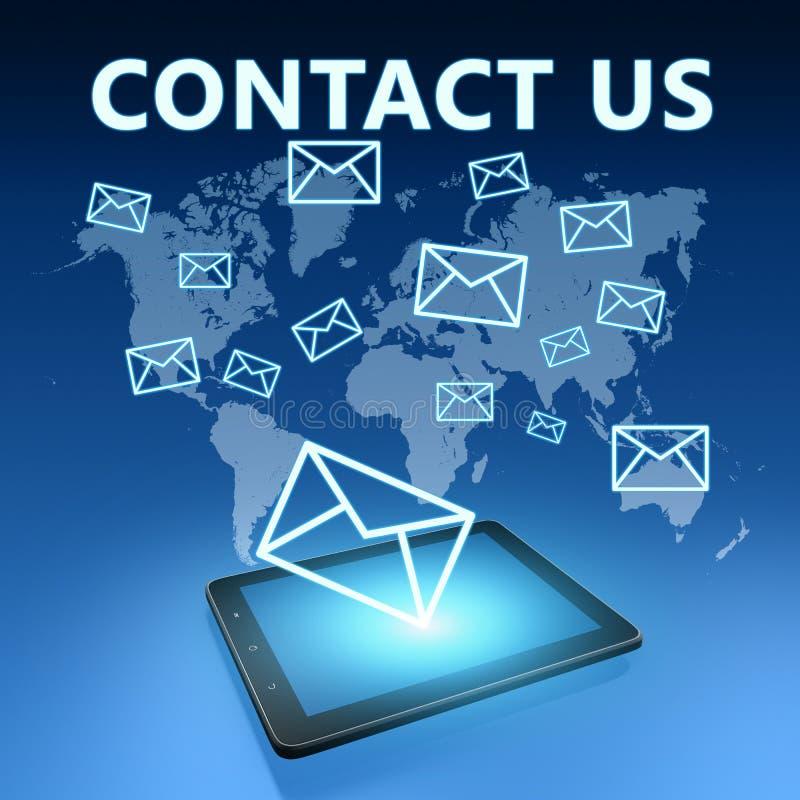 请与邮件联系给我们打电话 向量例证