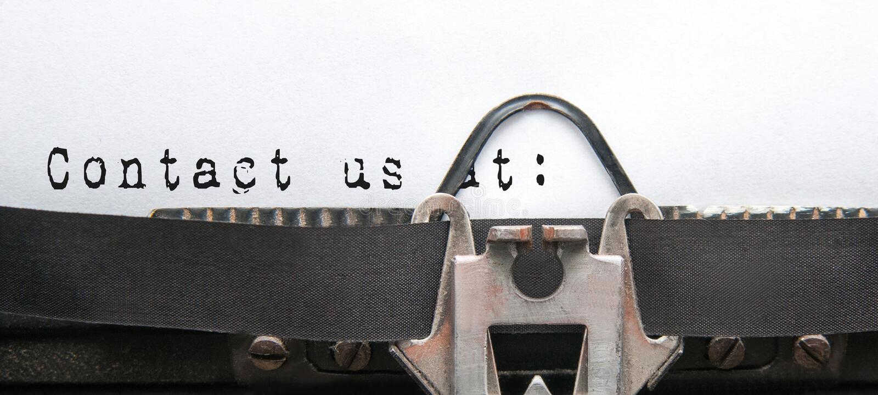 请与邮件联系给我们打电话 图库摄影