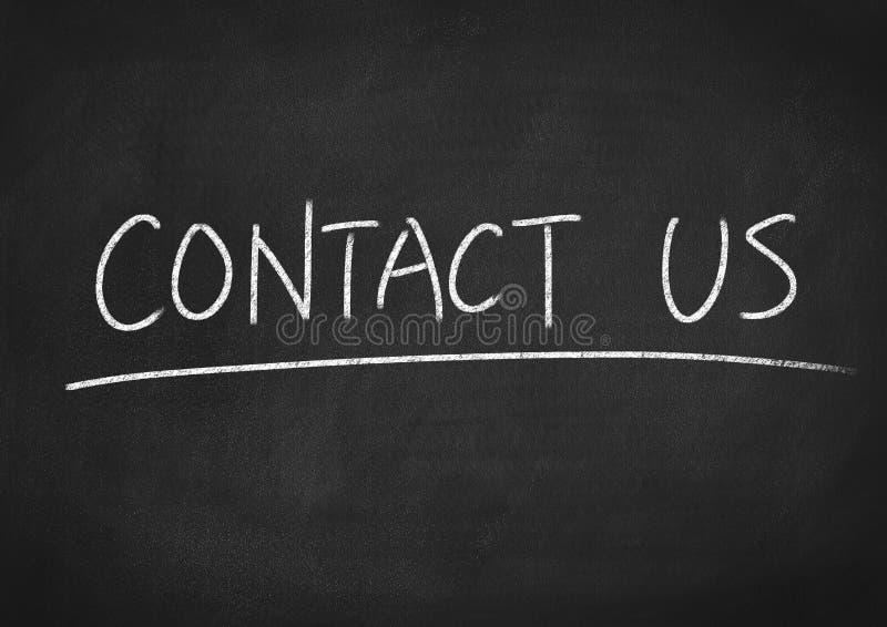 请与邮件联系给我们打电话 库存图片