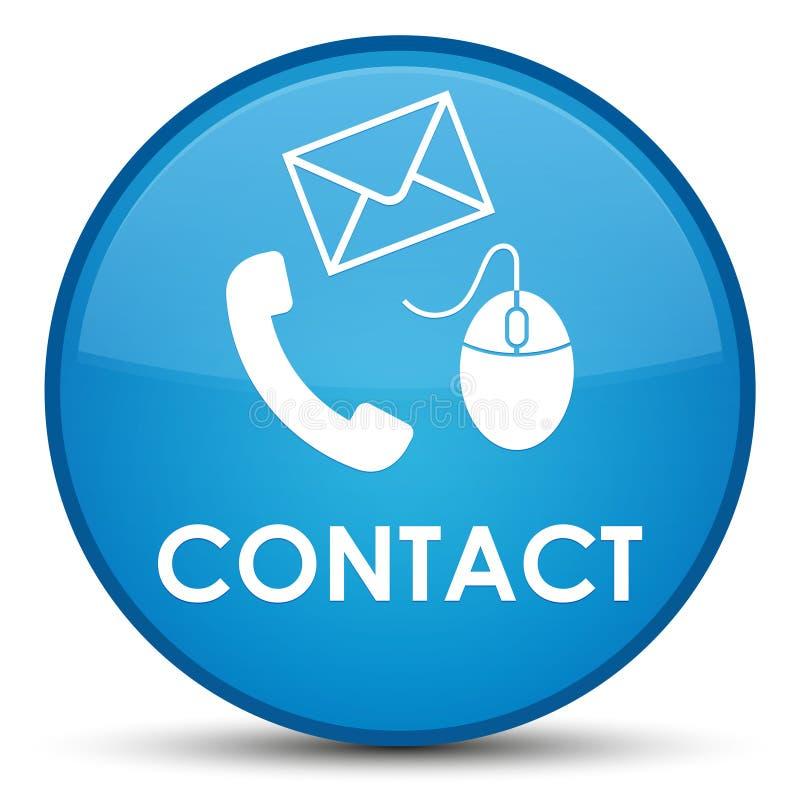 请与(电话电子邮件和老鼠象)深蓝蓝色特别回合联系,但是 向量例证