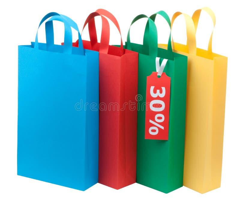 请求五颜六色四购物 库存图片