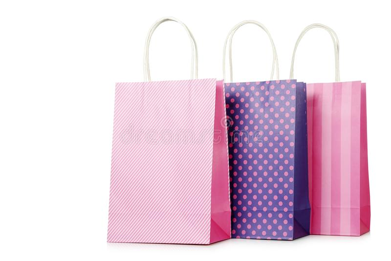 请求五颜六色的购物 免版税库存照片