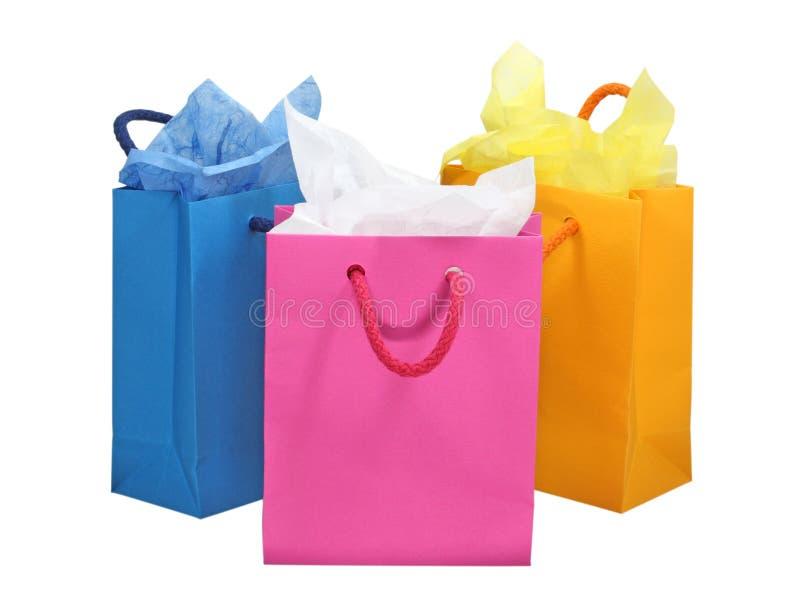 请求五颜六色的购物 图库摄影