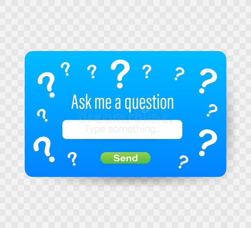请求我问题用户界面设计 t 库存例证