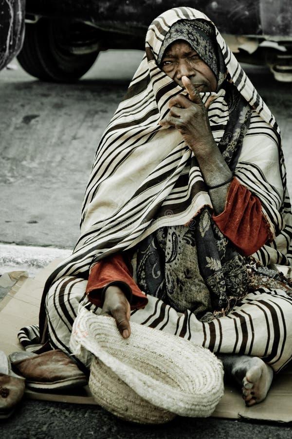 请求无家可归的人街道 库存图片