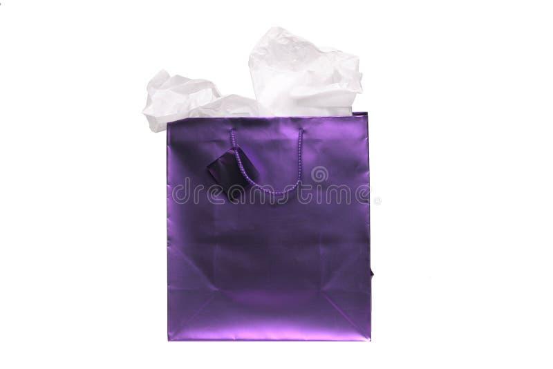 请求礼品紫色 库存图片