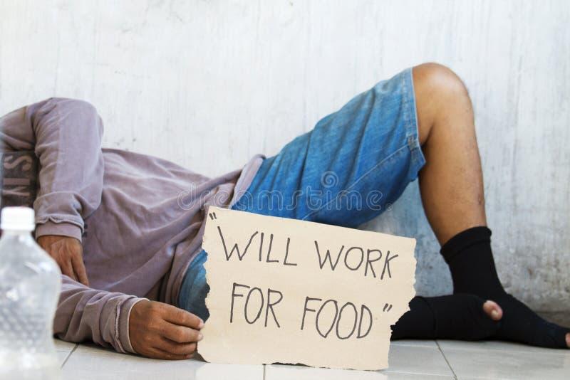 请求饥饿的食物 免版税库存图片