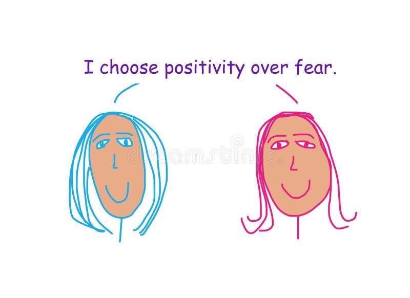 请选择积极而不是恐惧 库存图片
