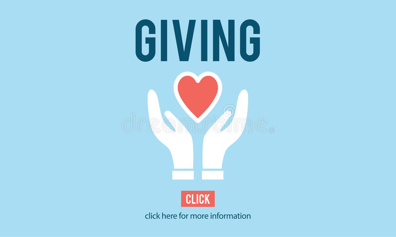 给请给帮助援助支持慈善概念 皇族释放例证