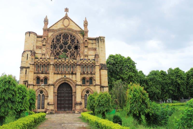 诸圣日大教堂Patthar Girja allahabad印度 免版税库存图片