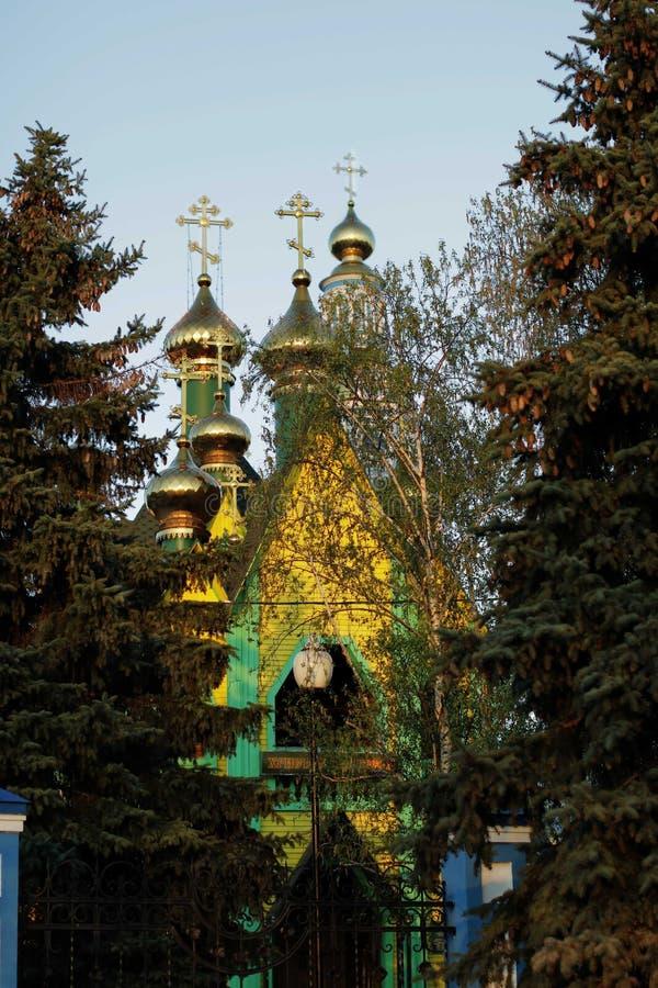 以诸圣日教会的名义 乌里扬诺夫斯克(Simbirsk)市 免版税库存照片