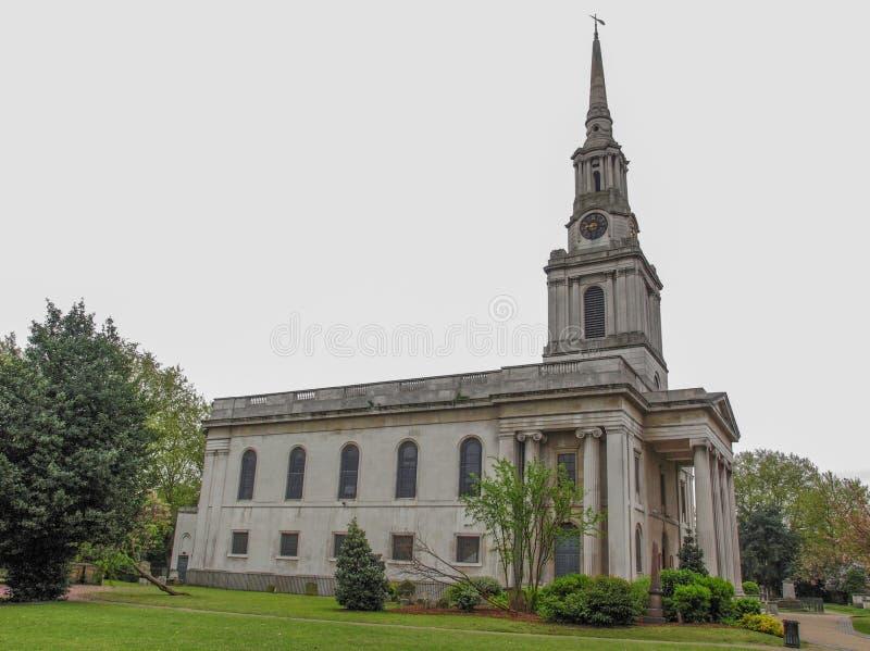 诸圣日教会,伦敦 免版税库存图片
