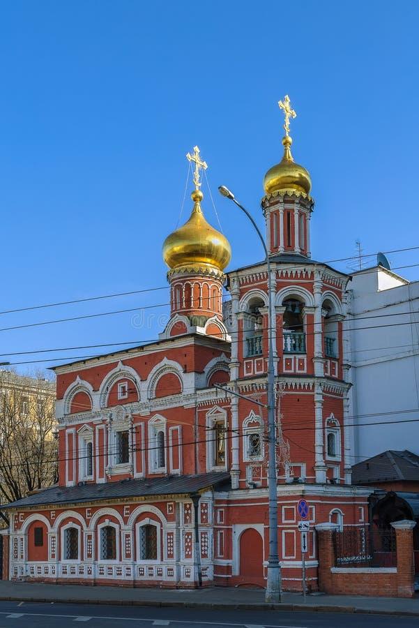 诸圣日教会,莫斯科 免版税库存照片