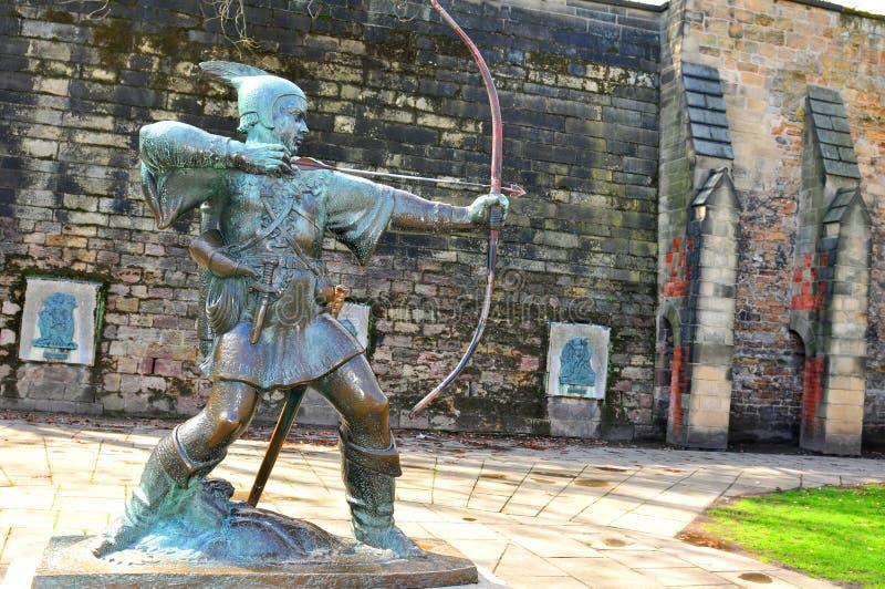 诺丁汉城堡 免版税库存照片